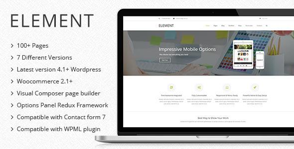 element multipurpose wordpress theme