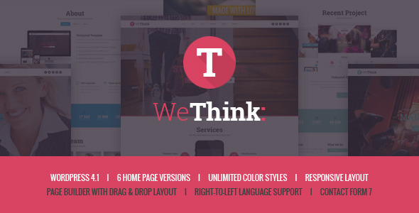 we think singlemulti page wordpress theme