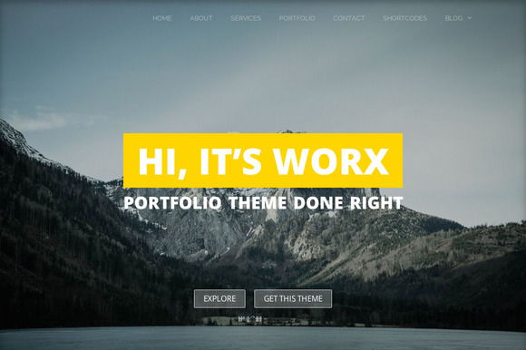 worx portfolio wordpress theme