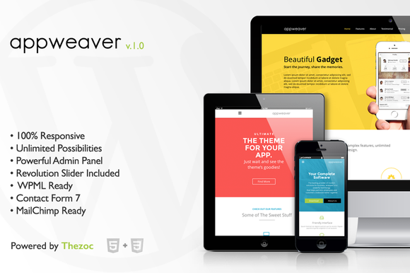 appweaver wordpress theme