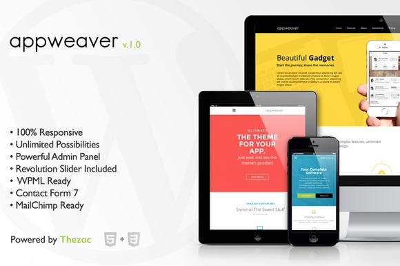 appweaver wordpress theme