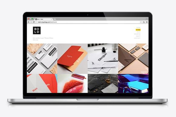 bold portfolio wordpress theme