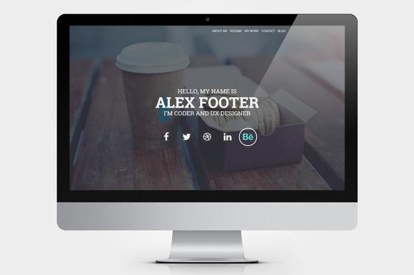 nitteo wordpres one web page profile