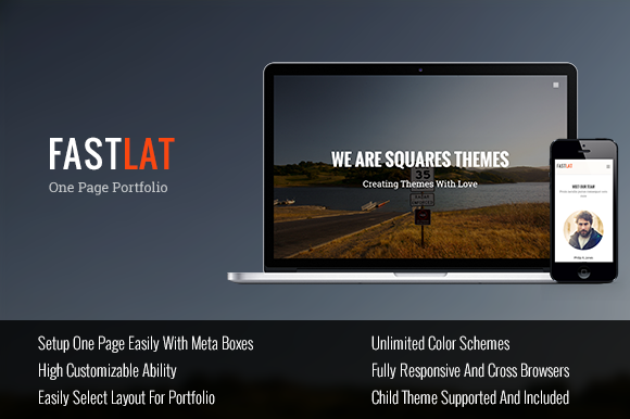 fastlat one page wordpress theme
