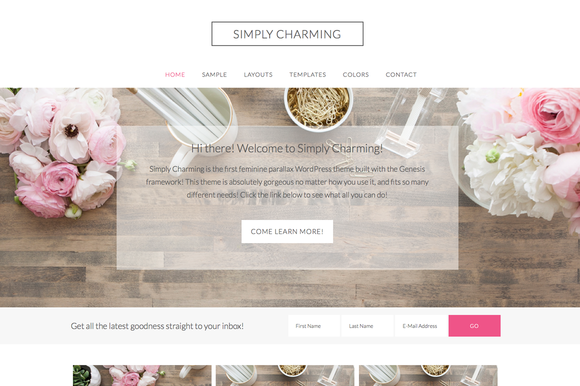 simply charming a parallax theme
