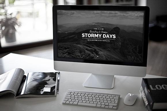 stormy time wordpress blog theme