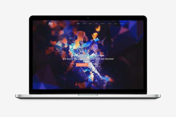 one web page wordpress theme
