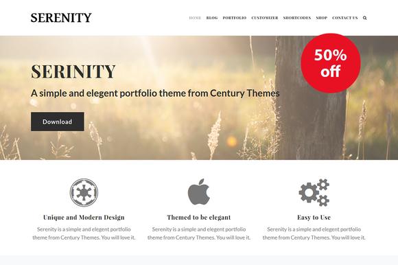 serenity creative wordpress theme