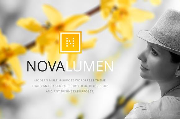 novalumen modern wordpress theme
