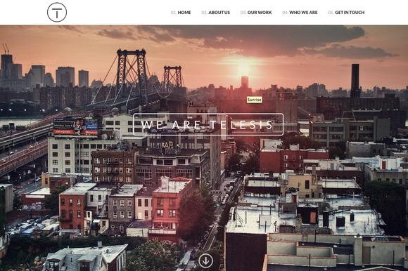 telesis one web page wordpress theme
