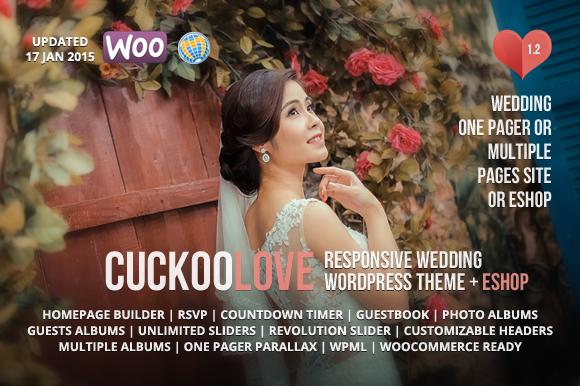 cuckoolove wedding wordpress theme