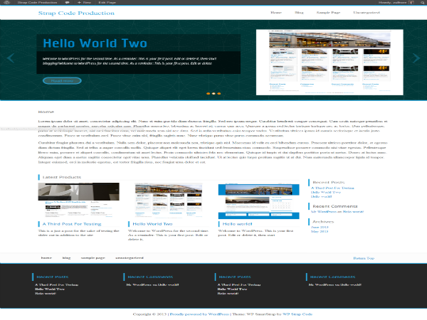 wp parastrap free parallax wordpress theme