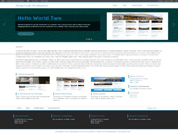 wp parastrap free parallax wordpress theme