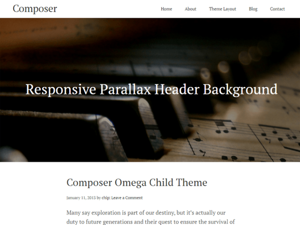 composer free wordpress theme
