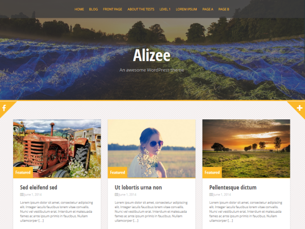 alizee free parallax wordpress theme