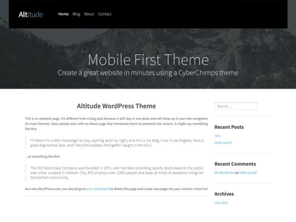 altitude lite free wordpress theme