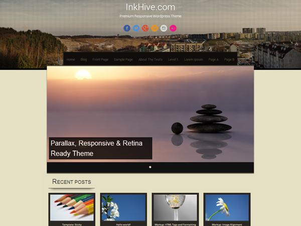 sixteen free parallax wordpress theme