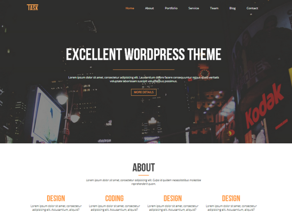 business one free wordpress theme