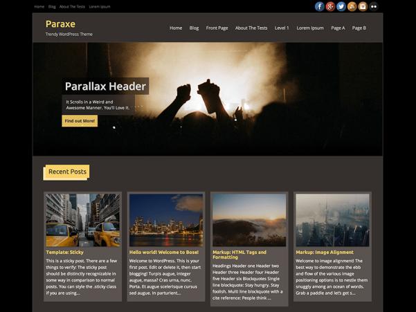paraxe free wordpress theme