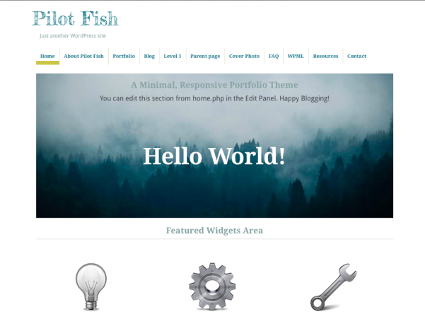 pilot fish free parallax wordpress theme
