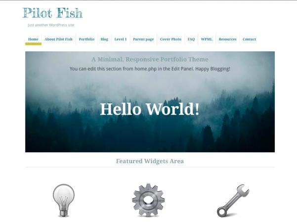 pilot fish free parallax wordpress theme