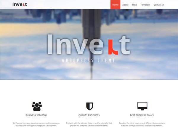 invert lite free parallax wordpress theme