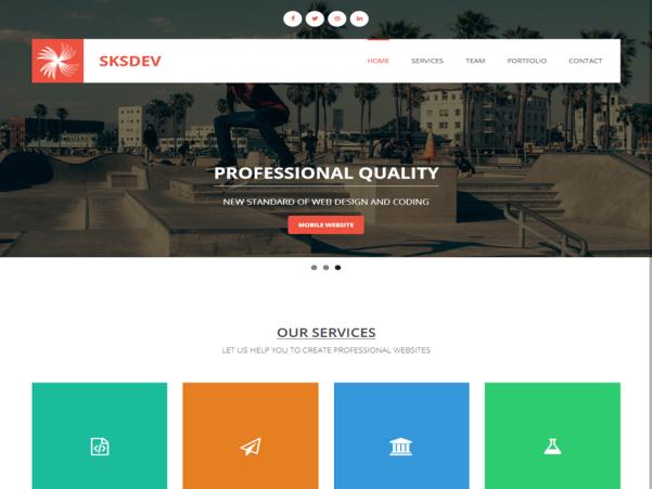 sksdev free wordpress theme
