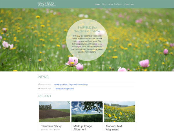 birdfield free wordpress theme