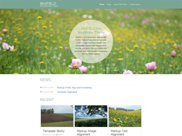 birdfield free wordpress theme