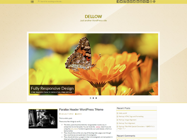 dellow free parallax wordpress theme