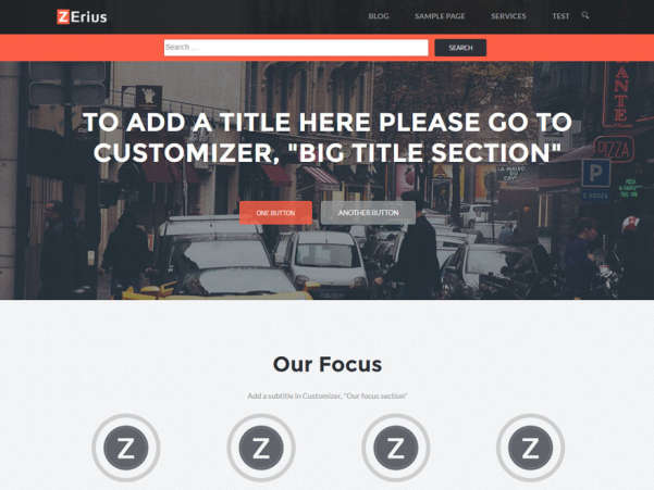 zerius free wordpress theme