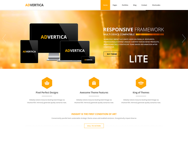 advertica lite free parallax wordpress theme