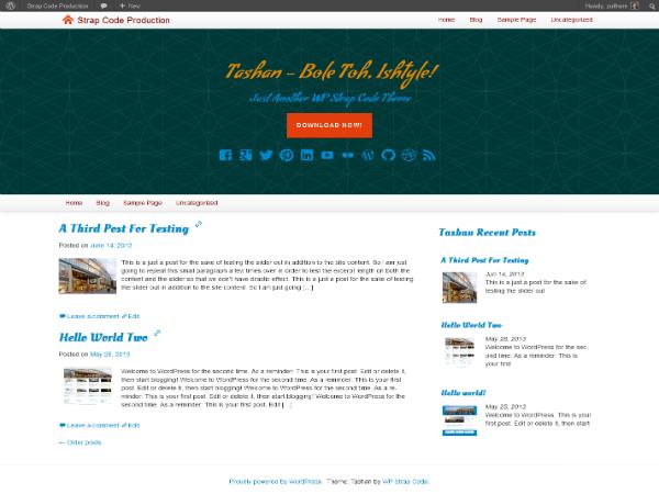 tashan free parallax wordpress theme