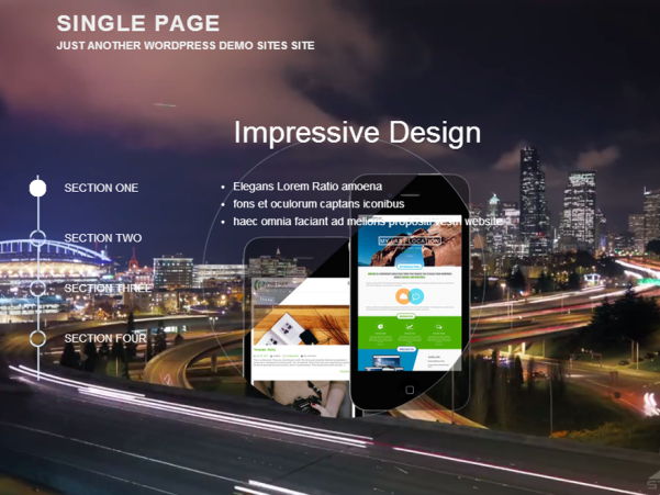 singlepage free wordpress theme