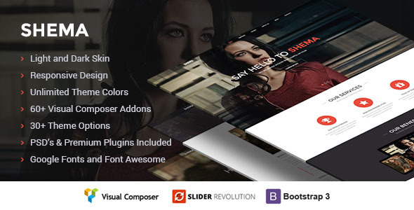 shema imaginative one page wordpress theme