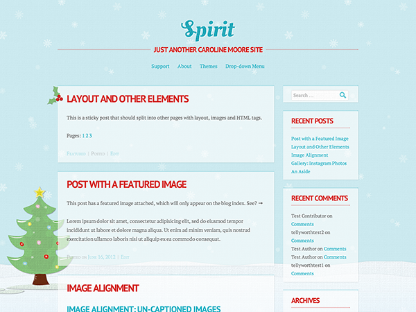free spirit landing page wordpress theme
