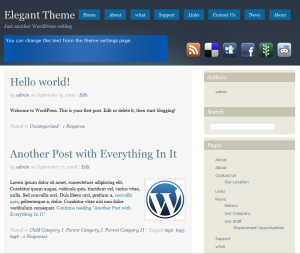 free social landing page wordpress theme