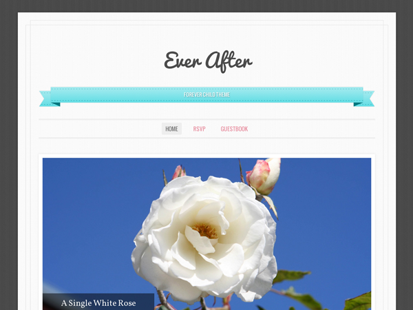 free ever after landing page wordpress theme