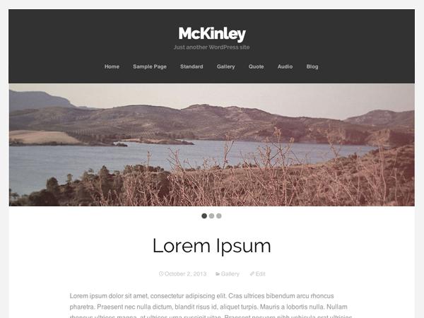 free mckinley landing page wordpress theme