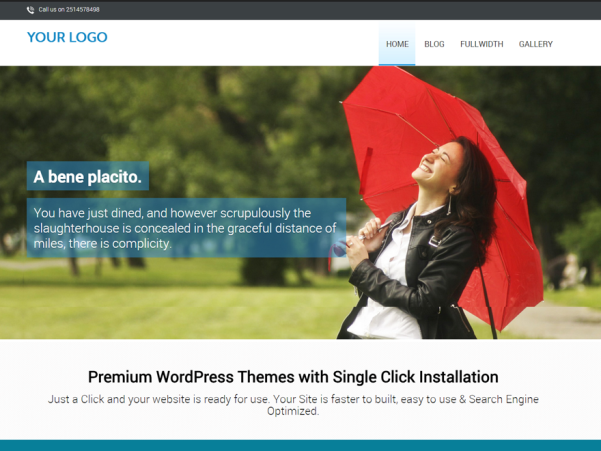 free one page landing page wordpress theme