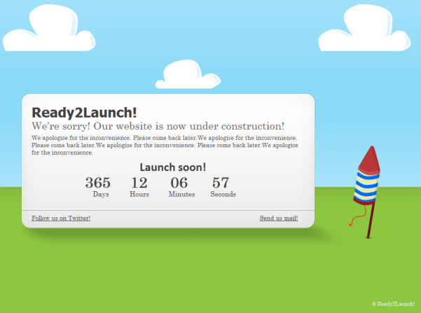 free ready2launch! landing page wordpress theme
