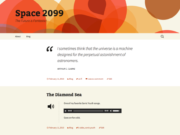 free 2013 orange sequence landing page wordpress theme