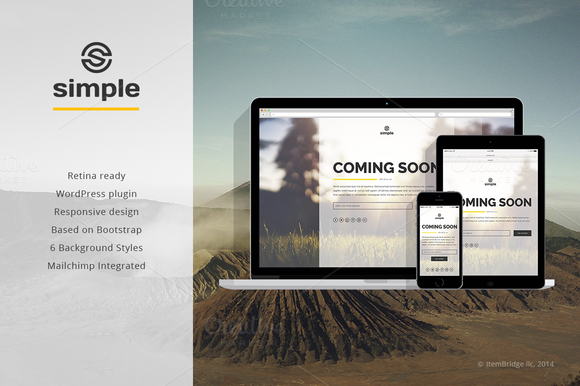 simple coming soon wp plugin