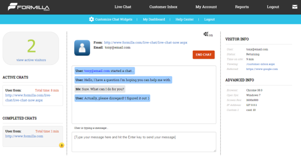 formilla-live-chat screenshot 4