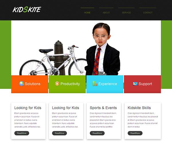free kids kite html template screenshot