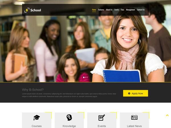 40 best education html website templates ginva free b school html template maxwellsz