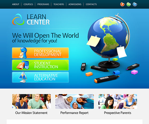 learn center education template screenshot