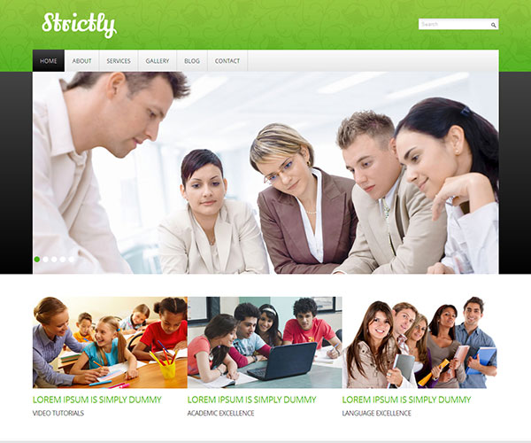 free strictly html template screenshot