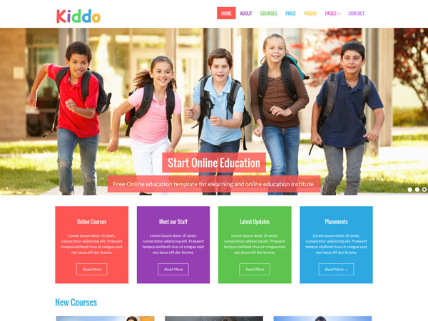 Kiddo Education Template Screenshot