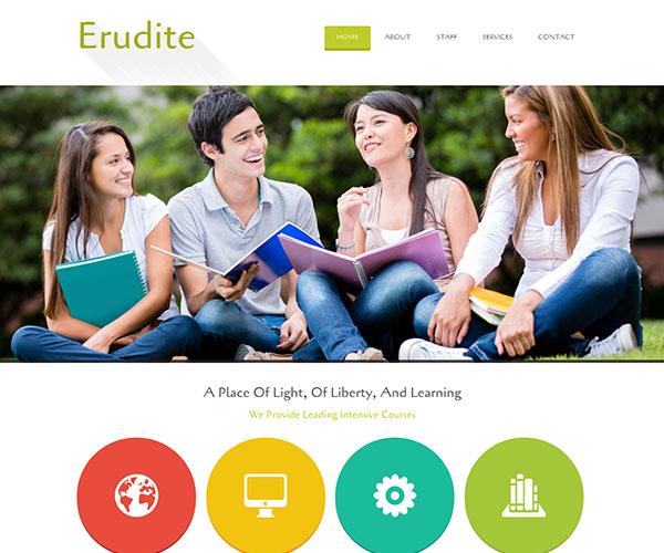 free erudite html template screenshot